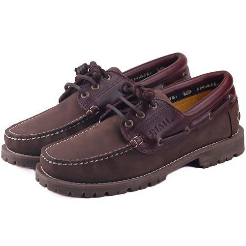男款 SNAIL 經典系列 雷根大底 帆船鞋 雷根鞋 休閒鞋 情侶鞋 咖棕 59鞋廊