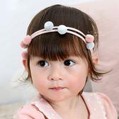 可愛糖果色毛絨絨球球髮帶 兒童髮飾 髮帶