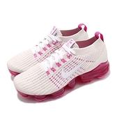 Nike 慢跑鞋 Wmns Air VaporMax Flyknit 3 白 粉紅 大氣墊 運動鞋 女鞋【ACS】 AJ6910-005