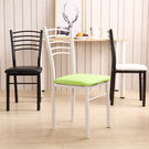 餐廳椅子時尚現代簡約家用懶人凳子靠背學生書桌酒店白色餐椅成人(黑架)─預購CH1346