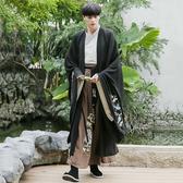 漢服男中國風黑色古裝霸氣魏晉刺繡cp情侶裝古風俠客男士仙氣套裝 陽光好物