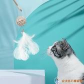 貓咪逗貓棒貓玩具帶鈴鐺羽毛長桿耐咬五角星【公主日記】