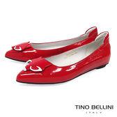 Tino Bellini 奇幻童趣詼諧小狐狸平底娃娃鞋_ 紅 B83264