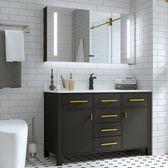 智能北歐浴室櫃組合落地式現代洗臉洗手面盆池洗漱台盆衛生間WY