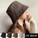 OT SHOP[現貨]帽子 條紋漁夫帽 ...