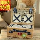 野餐籃餐具組合編織籃子-四人份滿天星系列郊遊用品68e15【時尚巴黎】