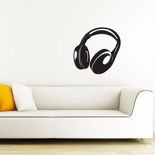 [摩達客]法國Ambiance 大耳機設計 家飾壁貼