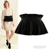 腰封 裝飾女士腰封半身裙連身裙束腰帶女款時尚百搭黑色鬆緊大碼歐美潮 蘇荷精品女裝