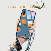 聖誕節交換禮物-蘋果x手機殼iphone xs max女款潮牌新款玻璃iPhoneX復古橘子7Plus全包防摔