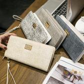 手拿包 2019新款錢包女長款拉? 日韓版簡約復古女士手拿錢包大容量皮夾