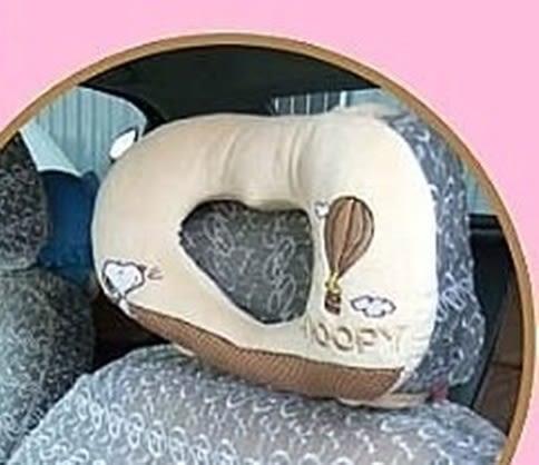 車之嚴選 cars_go 汽車用品【SN-10908】SNOOPY 史奴比 熱氣球系列 座椅頭頸枕 頭枕 頸靠墊