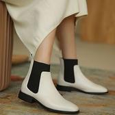 切爾西短靴女 休閒平底靴 方頭手工靴/3色-夢想家-標準碼-1026