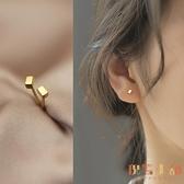 時尚簡約光面長方塊形耳釘女氣質小巧幾何耳飾品【倪醬小鋪】