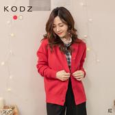 東京著衣【KODZ】姊的最愛圓領磨毛排釦針織外套(192085)