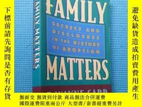 二手書博民逛書店FAMILY罕見MATTERS SECRECY AND DISC