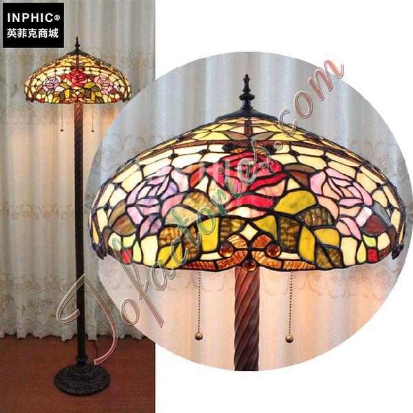 INPHIC-純手工彩色玻璃藝術品燈飾英式莊園古堡落地燈燈具_S2626C