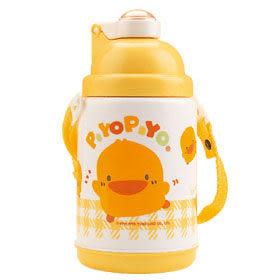 黃色小鴨 彈跳保溫保冷水壺420cc