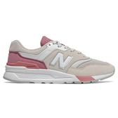 New Balance 997 女鞋 休閒 復古 輕量 麂皮 網布 米 粉紅【運動世界】CW997HBQ