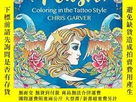 二手書博民逛書店Flash:罕見Coloring in the Tattoo StyleY360448 Chris Garve
