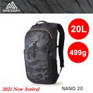 【速捷戶外】美國GREGORY 111499 Nano 20L多功能休閒背包(黑林地迷彩)運動通勤背包,登山背包