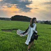 📢現貨供應📢韓國外貿原單新款格子絲巾女夏季新款雪紡經典黑白條紋歐美長款圍巾沙灘防曬披
