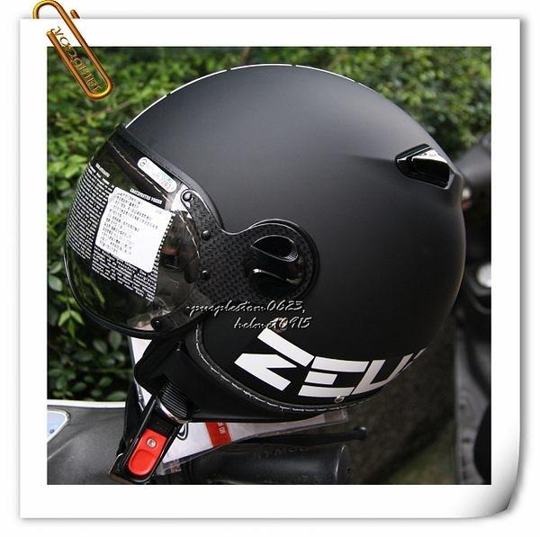 ZEUS 瑞獅安全帽,MOMO 飛行帽,210C,DD11/消光黑~林森