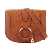 【SEE BY CHLOE】HANA bag 小型麂皮皮革斜背包(棕色) CHS18AS896417 242