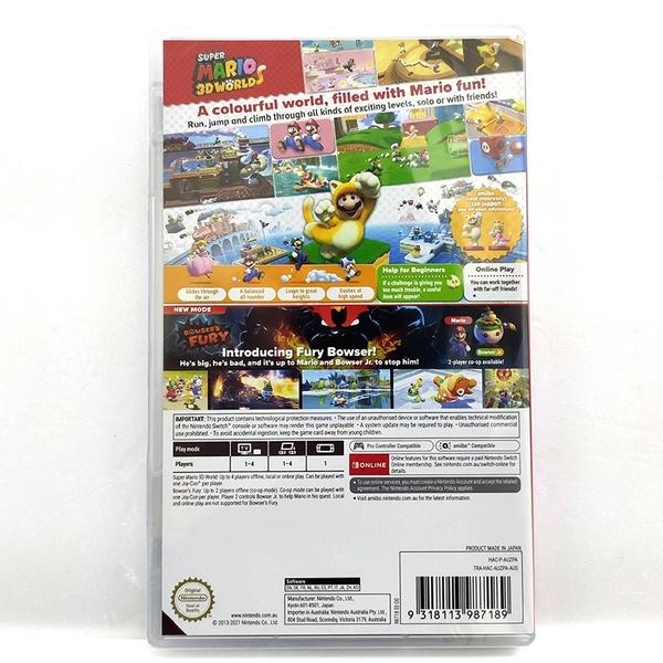 任天堂 Switch NS 超級瑪利歐 3D 世界 + 狂怒世界 國際版含中文