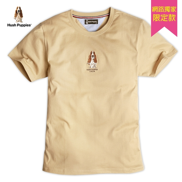 Hush Puppies T恤 男裝刺繡狗棉質休閒T恤