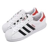 【海外限定】adidas 休閒鞋 Superstar J Run DMC 白 黑 紅 大童鞋 女鞋 愛迪達 【ACS】 FY4054