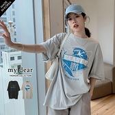 MD韓【A01200657】BEAS斑駁字母T恤2色