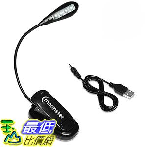[美國直購] Moonster LED書燈 B00PO68CDW BEST Book Light Clip On Reading Lamp Battery & USB Operated 4 LED