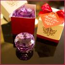 紅色楓葉盒裝水晶蘋果(紫色)-姊妹禮/伴娘禮/活動禮/來店禮/贈品/婚禮小物 幸福朵朵