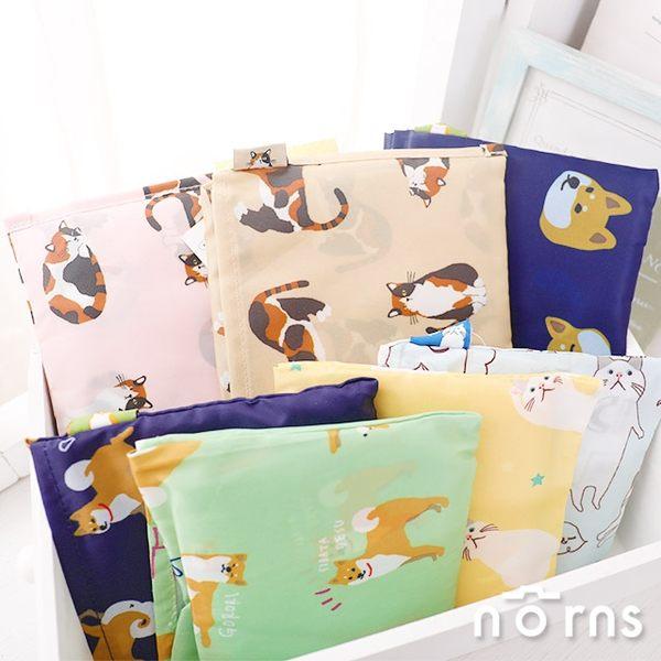 【日貨動物折疊式環保購物袋】Norns 柴犬貓咪 肩背手提兩用包 輕量速乾 旅行收納 耐重6kg