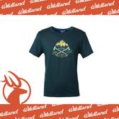 【Wildland 荒野 男 雙色印花抗UV排汗上衣《深藍》】0A61686-72/抗UV/吸濕排汗/休閒