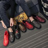 老北京花布鞋潮流男鞋夏季新款中國風帆布鞋男手工唐裝刺繡懶人鞋 萬聖節