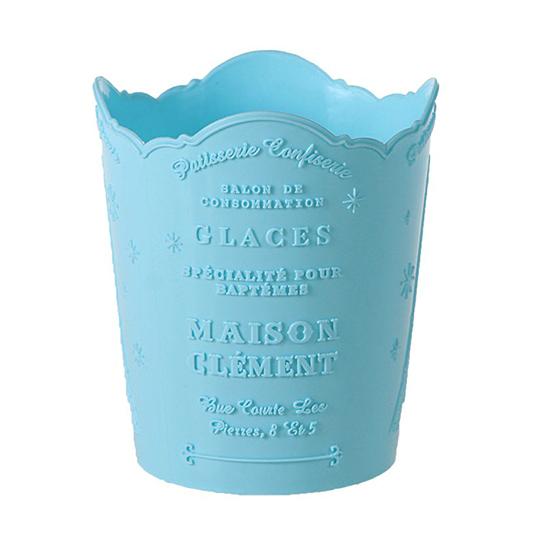圓形  收納架 整理 化妝品收納 置物架 辦公用品 垃圾桶 紙簍 刷具 鐵塔浮雕收納盒 【N384】MY COLOR