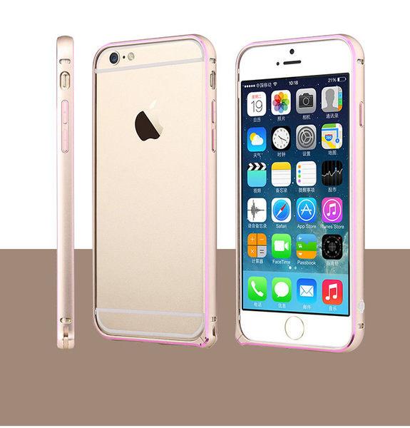 【00429】 [Apple iPhone 6 / 6S 4.7吋] TOTU 潤系列 超薄金屬手機邊框