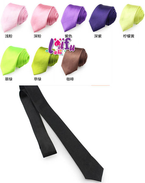 ★草魚妹★K810亮面繽紛手打領帶5cm窄領帶窄版領帶,售價69元