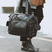 旅行袋手提包時尚街頭男包單肩包側背包男士包包休閒韓版潮流包潮  全館免運