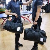 休閒男健身包瑜伽包女訓練包手提短途旅行袋韓版學生行李包運動包   麻吉鋪