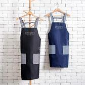 圍裙日式防水圍裙廚房防油做飯圍腰成人家居罩衣【奇趣小屋】