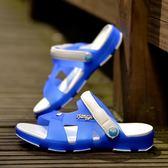 防滑拖鞋 兒童涼鞋男童拖鞋夏季中大童拖鞋兒童沙灘鞋浴室防滑涼拖鞋洞洞鞋 怦然心動