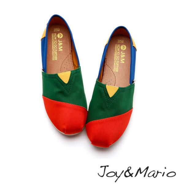 【Joy&Mario】拼色平底休閒鞋 - 61660W JACINTH