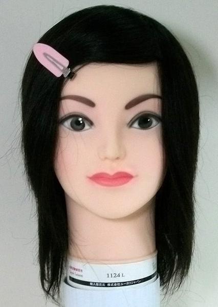 考試練習用日本假人頭  1124L   100%真人頭髮  長髮 約20cm