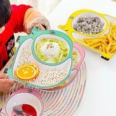 ins網紅盤子餐具創意不規則陶瓷家用兒童餐盤分格卡通寶寶無毒碗【一周年店慶限時85折】