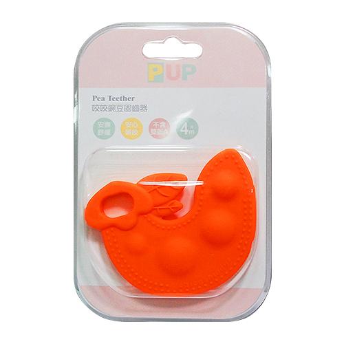 奇哥 PUP Pumpkin Teether 咬咬碗豆固齒器(橘色)[衛立兒生活館]