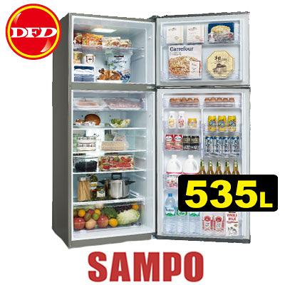 SAMPO 聲寶 SR-A53D 變頻冰箱系列 535L 高效能壓縮機 高效能DC風扇 公司貨 SRA53D ※運費另計(需加購)