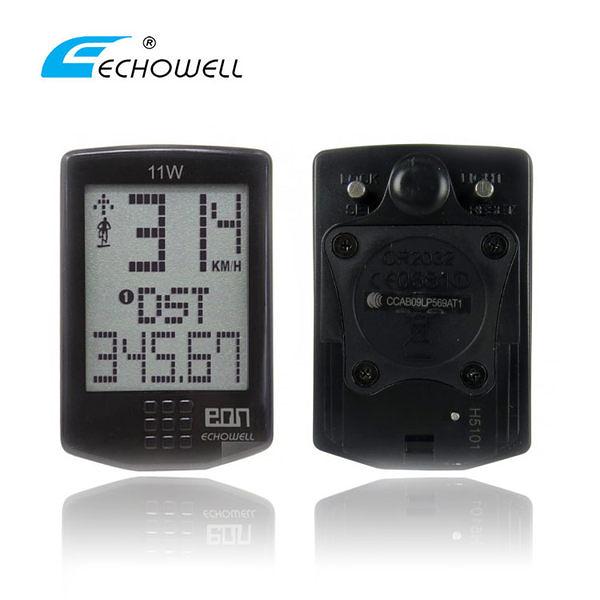 ECHOWELL 無線碼錶EON-11W/城市綠洲(觸控式.黑色.運動)