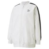 PUMA CLASSICS 女款白色立領棒球外套-NO.53027505